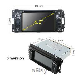 Car Stereo Radio RDS CD DVD Player GPS Nav fit Jeep Wrangler Unlimited 2007-2016