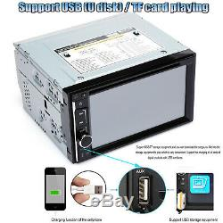 Car Stereo Radio for GPS CD DVD USB Player 2DIN Mirror Link for IOS & Android