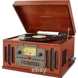 Crosley CR704B-PA Deluxe Musician Record Player Turntable Bluetooth CD AM/FM NEW