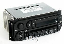 Dodge Jeep Chrysler 02-07 Radio AMFM CD Player w Aux Input RBK Slider Version