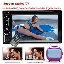 Double 2 DIN Car Stereo USB CD DVD Player Mirror Link For iOS & Android & Camera