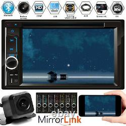 Double Din Car Radio In Dash Music Player MP3 CD DVD Stereo Mirror Link For GPS