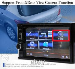 Double Din Car Stereo DVD+Backup Camera Touch Screen Radio Mirror Link For GPS