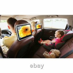 Dual 10.1 HD LCD Screen Car Headrest Monitors with DVD/USB/SD Player Kids Games