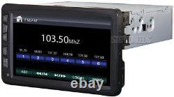 Farenheit Ti-712 Indash 1 Single Din Car DVD CD Player Touch Screen 7 Monitor