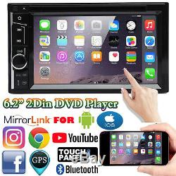 For CHRYSLER JEEP DODGE 6.2 Car CD DVD Touchscreen Radio Bluetooth Stereo AUX
