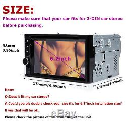 For Jeep 6.2 2Din Car Stereo CD DVD Player Radio Touch Screen In dash Bluetooth