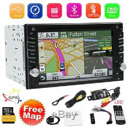 GPS Double 2 Din Car Stereo Radio CD DVD Player In Dash Bluetooth with Free Map