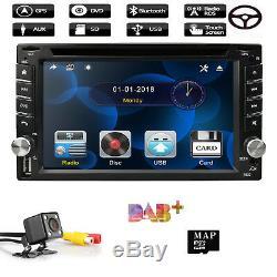 GPS Navigation 2Din HD Car Stereo DVD CD Player Bluetooth Auto Radio+Camera