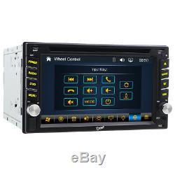 GPS Navigation 2Din HD Car Stereo DVD CD Player Bluetooth Auto Radio In dash USB
