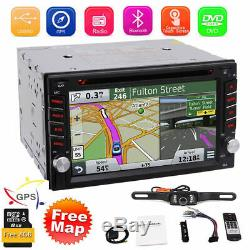 GPS Navigation+8GB Map Bluetooth Radio Double Din 6.2 Car Stereo DVD Player CD