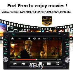 GPS Navigation With Map Bluetooth Radio Double Din 6.2 Car Stereo DVD Player CD
