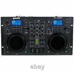 Gemini CDM-4000BT 2-Chan Dual CD/MP3/USB DJ Media Player Controller/Mixer System