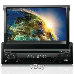 Gravity Single DIN Touch DVD/CD Player AM/FM Car Stereo with Bluetooth with Camera