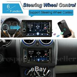 HD 2DIN Car Stereo Radio FM Player Bluetooth 1080P Touch Screen Mirror For GPS
