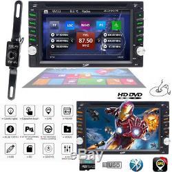 HD Sony lens Double 2Din 6.2Car Stereo Radio DVD Player GPS SD Bluetooth CD MP3