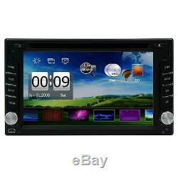 HD Touch Screen Double 2DIN Car GPS Stereo CD DVD Player Bluetooth Radio+Camera