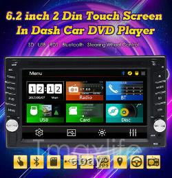 In Dash 6.2 Double 2Din Car Stereo Radio CD DVD Player GPS Navigation Bluetooth