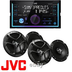 JVC 2-Din In-Dash Car Stereo CD Player +300 Watts 6.5 Speakers