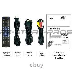 JVC DR-MV150B DVD VCR Combo Player VHS to DVD Recording HDMI 1080p Upscaling