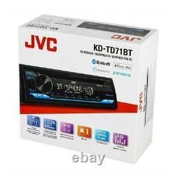 JVC KD-TD71BT CD/MP3 Player USB AUX Bluetooth Pandora Spotify Alexa App Ready