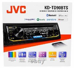 JVC KD-TD90BTS CD/MP3 Player Front USB AUX Bluetooth Pandora Spotify SiriusXM