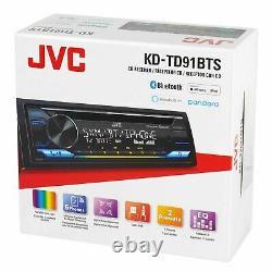 JVC KD-TD91BTS CD/MP3 Player Front USB AUX Bluetooth Pandora Spotify SiriusXM