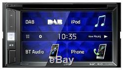 JVC KW-V255DBT Doppel-DIN CD/DVD/MP3-Autoradio Touchscreen DAB Bluetooth USB iPo