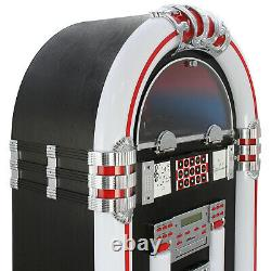 Jukebox Vintage Retro Stereo Vinyl Record Player CD FM Radio Bluetooth MP3 USB