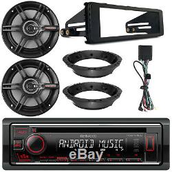 Kenwood CD Player Radio, Dash Kit, 2x 6.5 Speakers, Speaker Mounting Adapters