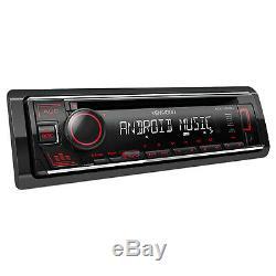 Kenwood CD Player Receiver, Harley Handlebar Control Interface, Installation Kit