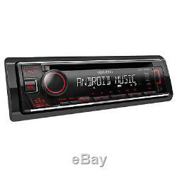 Kenwood KDC Single DIN USB AUX CD Player Radio Reciever, 4x 6.5 Enrock Speakers