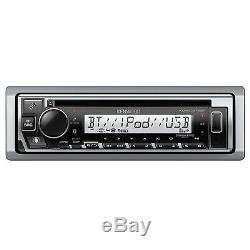 Kenwood KMR-D378BT Single DIN Bluetooth Marine Boat AUX USB CD Player Receiver