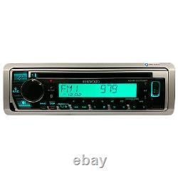 Kenwood KMRD378BT Single DIN Marine CD Player Bluetooth USB AUX Stereo Receiver