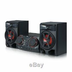 LG 300 Watts 2-Ch USB Bluetooth CD-Player Shelf Speaker Sound System CK43