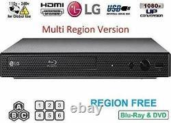 LG Refurbished REGION FREE BLU-RAY DVD PLAYER ZONE A B C DVD 0-8 USB BP175