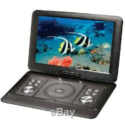Lenoxx 15.4 Swivel Portable DVD Player Car Charger/USB/Remote/Built-in Battery