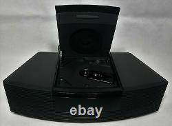 MINT Black Bose Wave Radio CD Player Alarm Clock Model AWRC-1G 100% WORKING