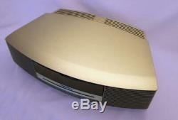 MINT Bose Wave Radio iPhone/iPod CD Player/AM FM/Alarm Titanium Silver AWRCC1