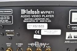 McIntosh MVP871 Universal Disc Player DVD CD SACD HDCD Dolby