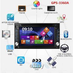 NEW GPS Navigation 2Din HD Car Stereo DVD CD Player BTAuto Radio iPod