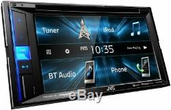 NEW JVC KW-V25BT 6.2 Touchscreen Double Din BLUETOOTH DVD Player Car Stereo