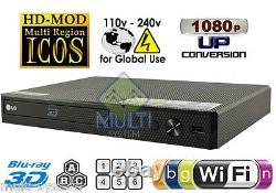 NEW LG BPM55 2D/3D Wi-Fi All Zone Multi Region Free DVD Blu-Ray Disc Player