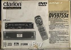 NEW OLD SCHOOL Clarion Pro Audio DVS9755Z in dash CD/DVD player, RARE, NIB, NOS