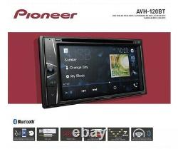 NEW! Pioneer AVH120BT 6.2 Inch Double Din DVD/MP3/CD Player FAST SHIPPING