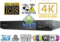NEW Sony S6700 Region Free DVD & BD ZONE ABC Blu-Ray Disc Player- 4K- 3D- WIFI