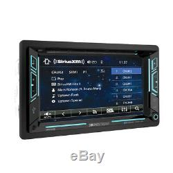 NEW Soundstream Double 2 DIN VR-63XB DVD/CD/MP3 Player Bluetooth USB SD SiriusXM