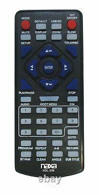 Naxa NDL-256 DVD CD Player Boombox AM/FM Radio USB/SD/SDHC AUX Mic