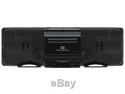 Naxa NPB-262 MP3/CD Player Bass Reflex Boombox +PA System+Bluetooth+AM/FM Radio