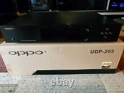 Oppo UDP-203 UHD 4K Blu-ray Player Original Owner, Everything Included